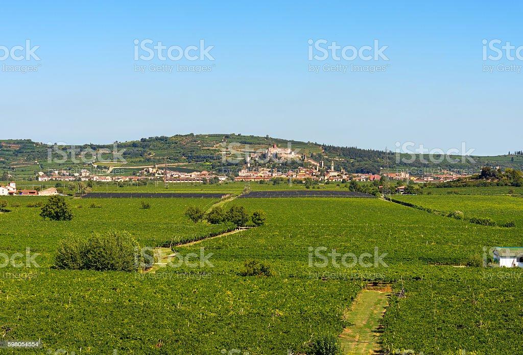 Soave Village near Verona - Veneto Italy stock photo