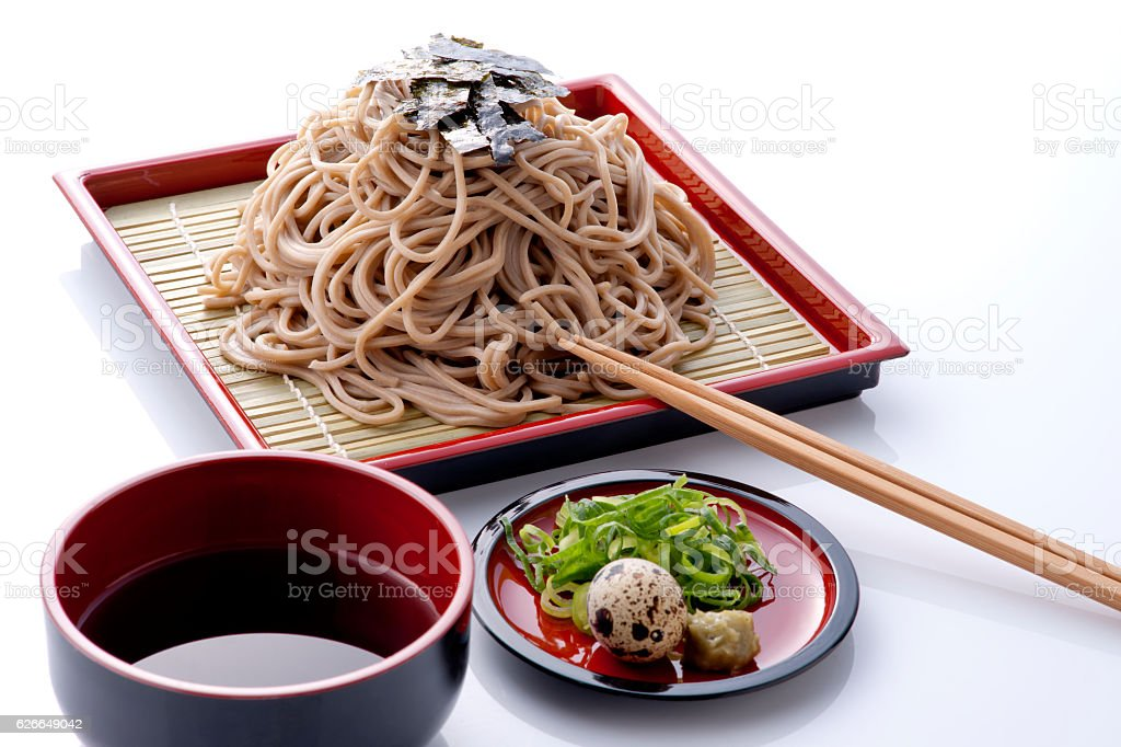 Soba noodle meal stock photo
