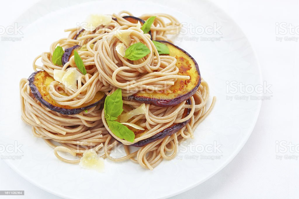soba noodle with vegetable stock photo