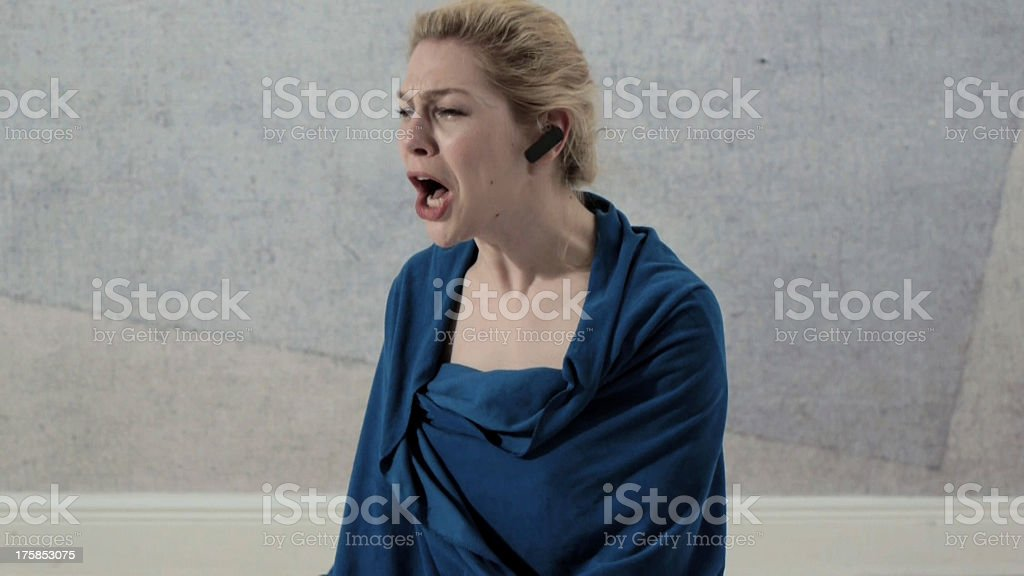 Sobbing Drunk CEO royalty-free stock photo