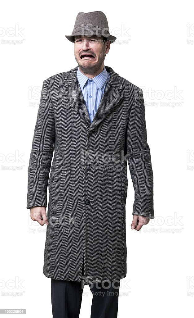 Sobbing Mobster royalty-free stock photo