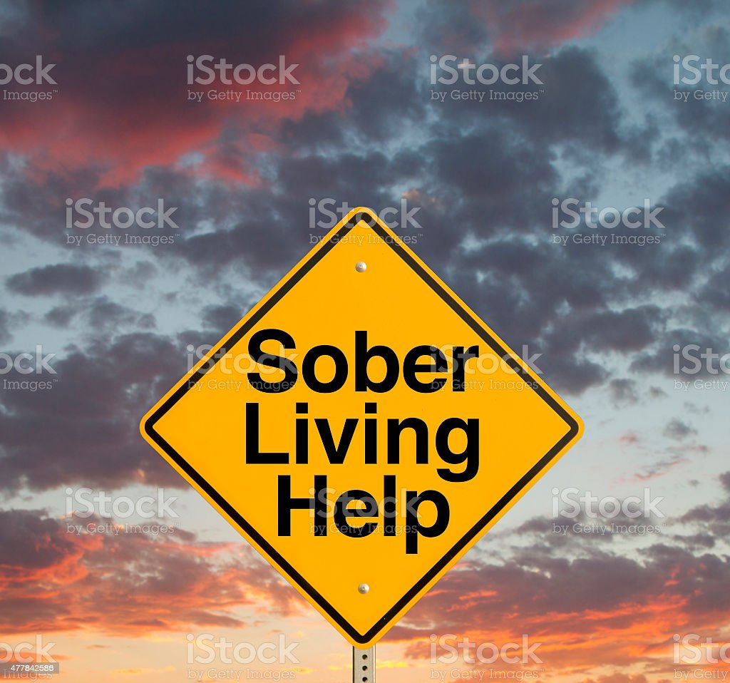 Sober Living Help stock photo