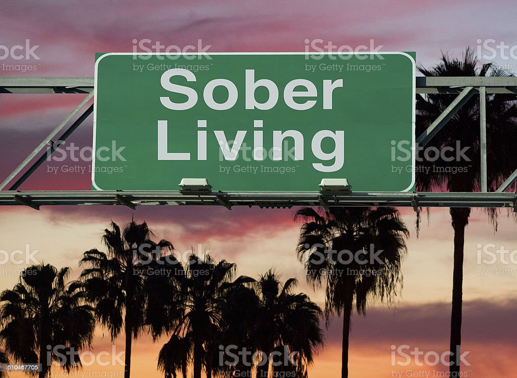 sober living stock photo