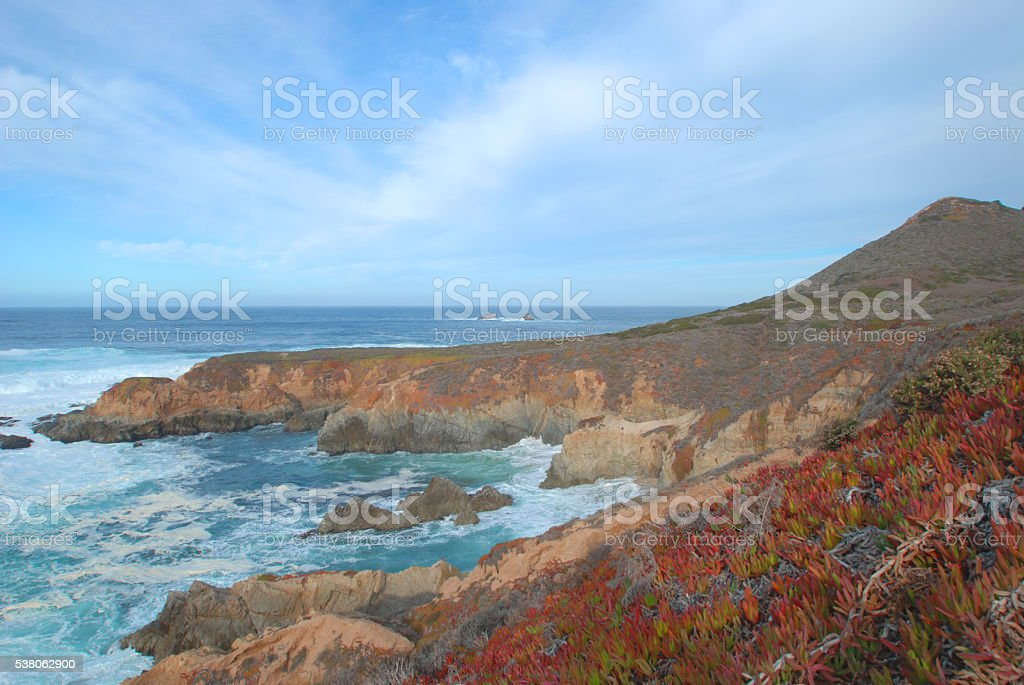 Soberanes Point- Big Sur, CA stock photo