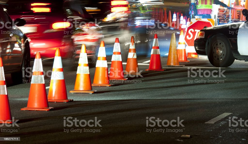 SobrietyCheckpointMotion royalty-free stock photo