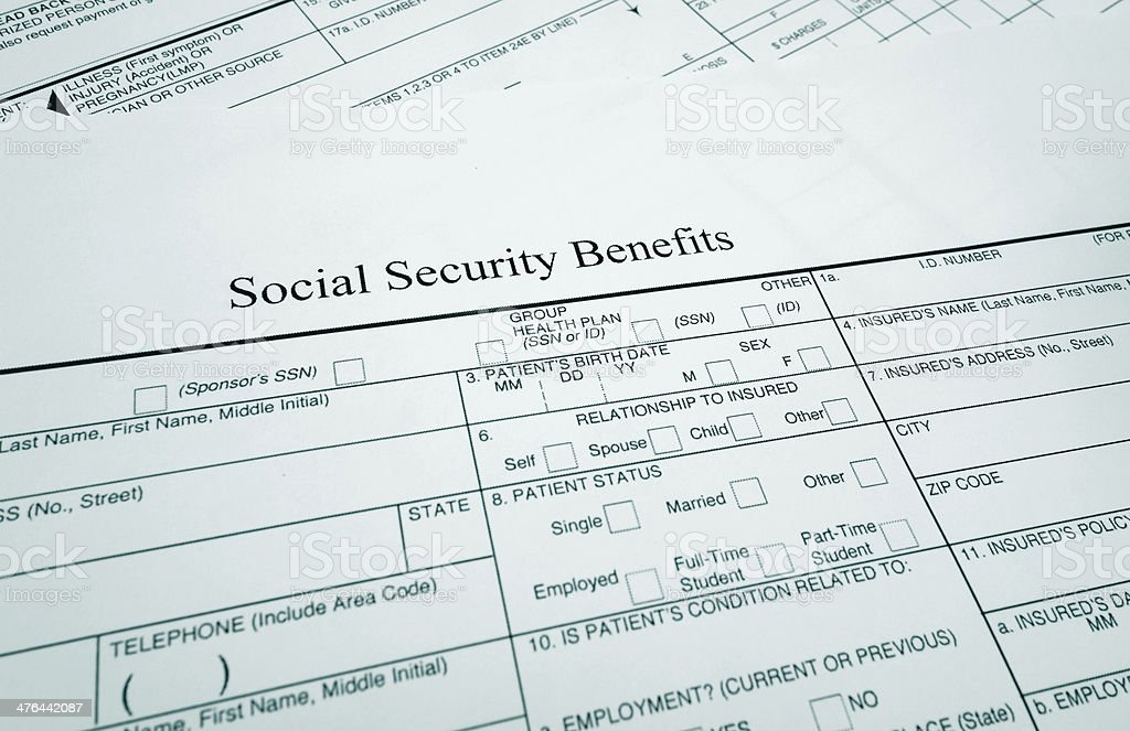 Soc Sec benefits stock photo