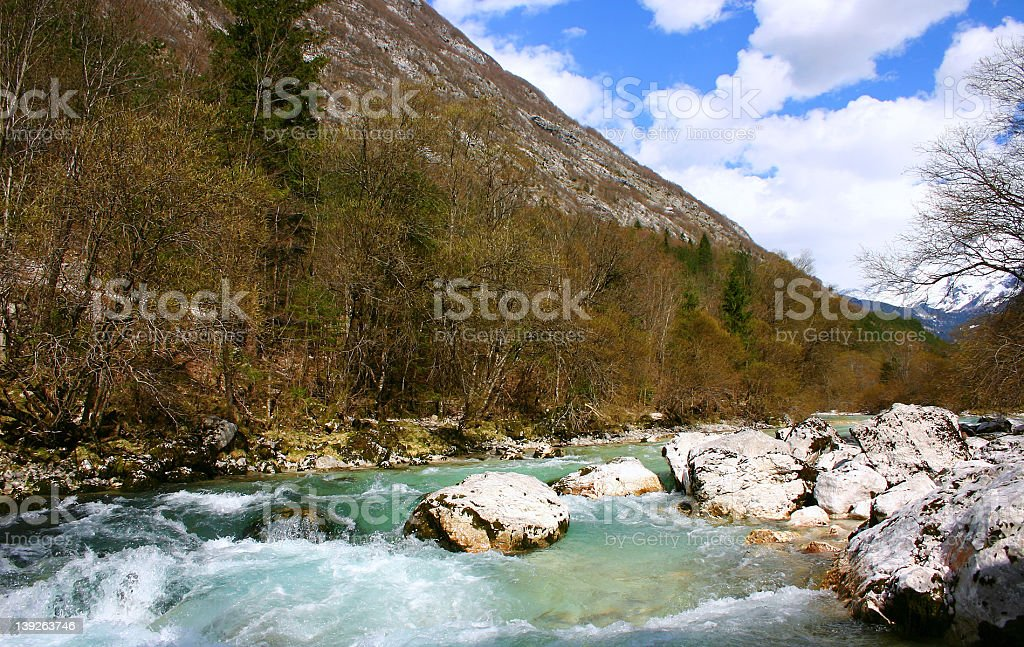 Soca river in Slovenia royalty-free stock photo