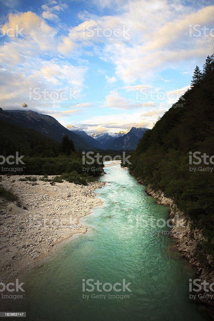 Soca River stock photo