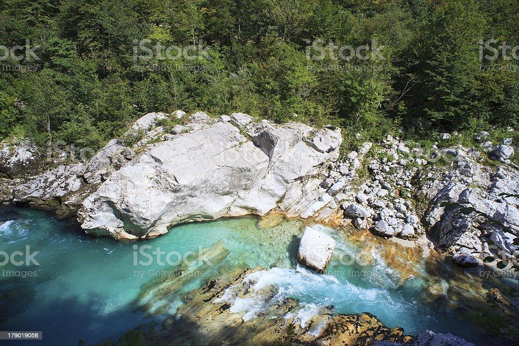 Soca river, Slovenia stock photo