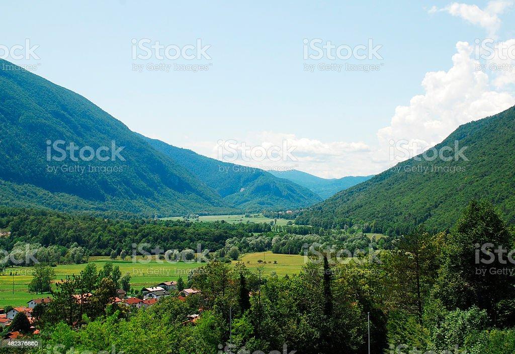 Soca Valley Near Kobarid stock photo