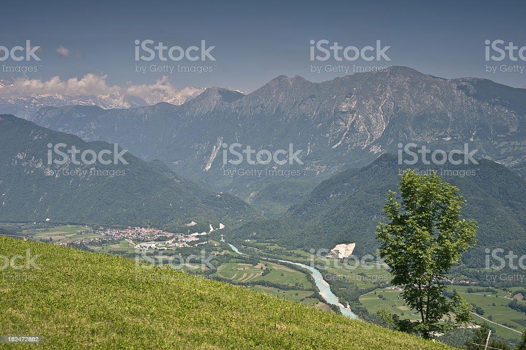 Soca Valley Slovenia stock photo