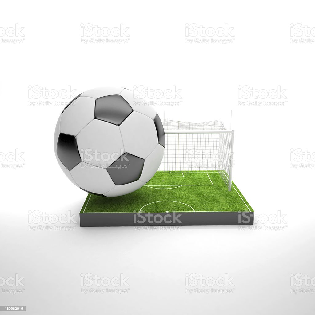 Soccer 3D art and concept royalty-free stock photo