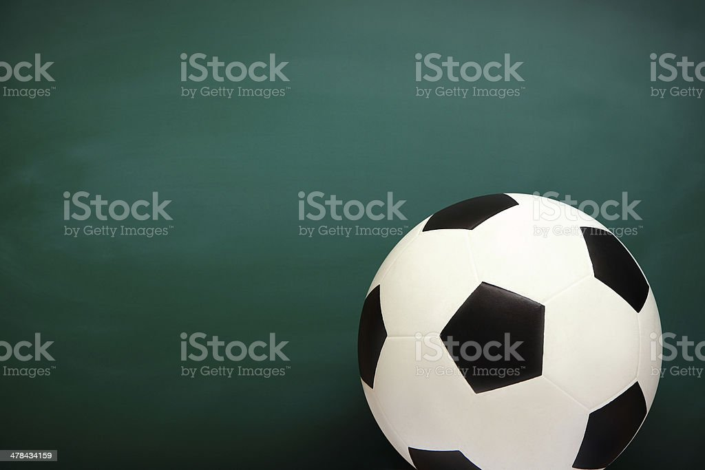 Soccer and Chalkboard stock photo
