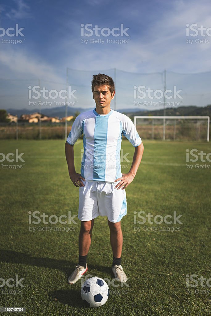 Soccer argentinian player portrait royalty-free stock photo