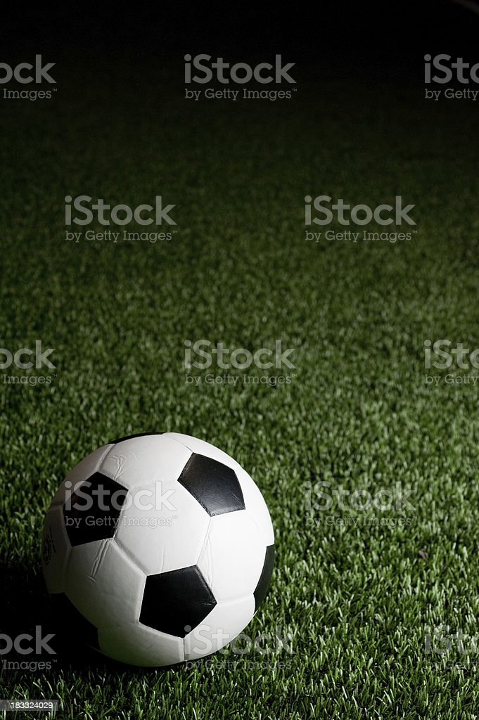 Soccer at night royalty-free stock photo