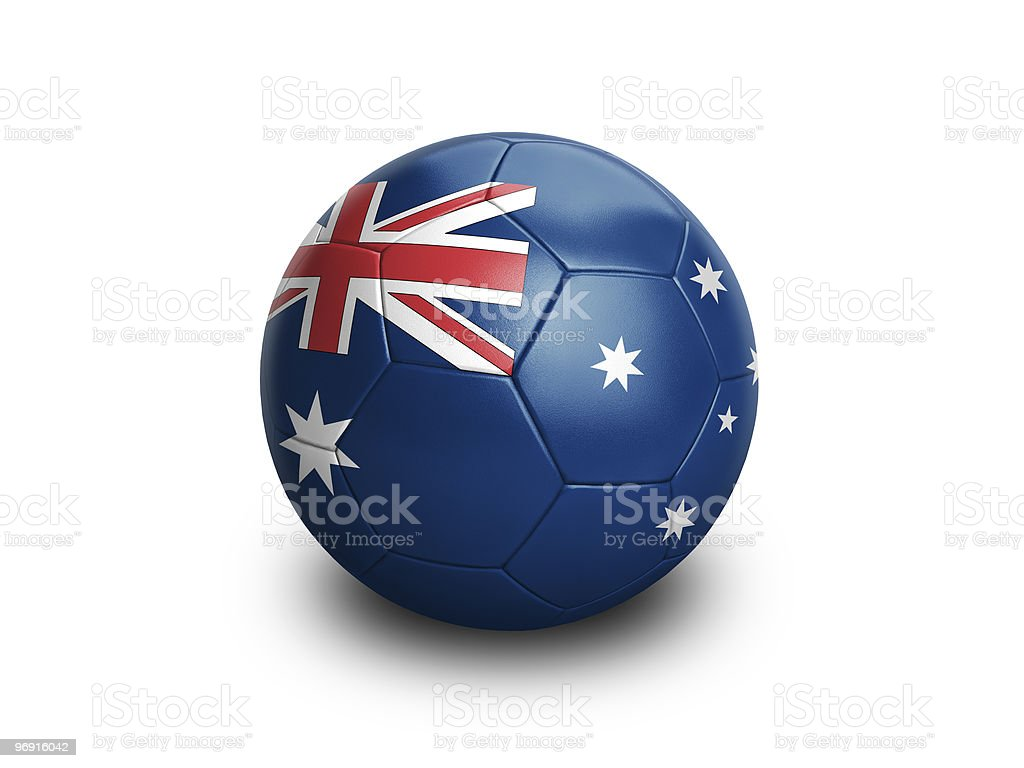 Soccer Australia stock photo