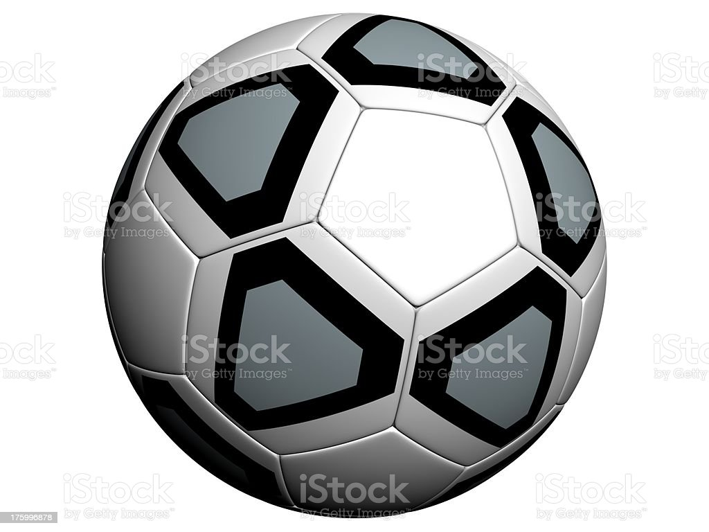 Soccer ball (isolated background) 3 royalty-free stock photo