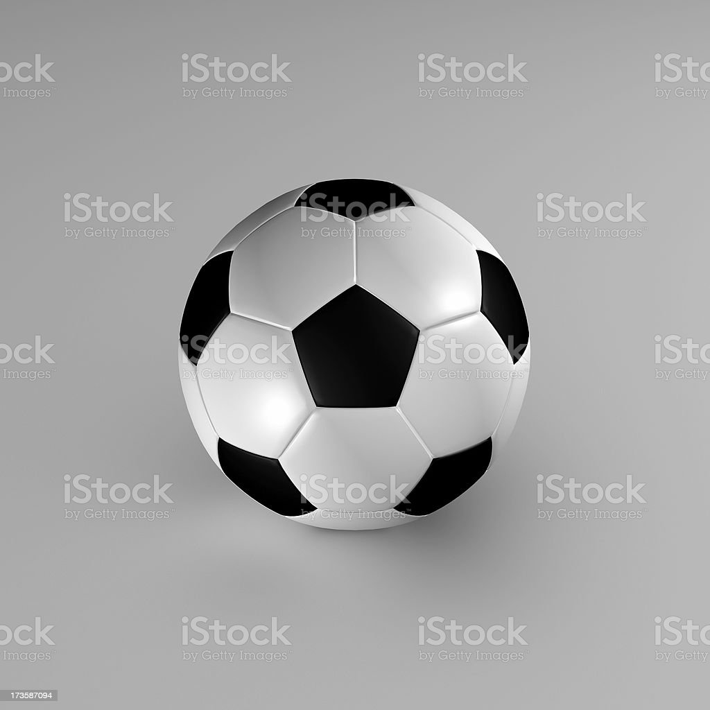 soccer ball - 3d rendering royalty-free stock photo
