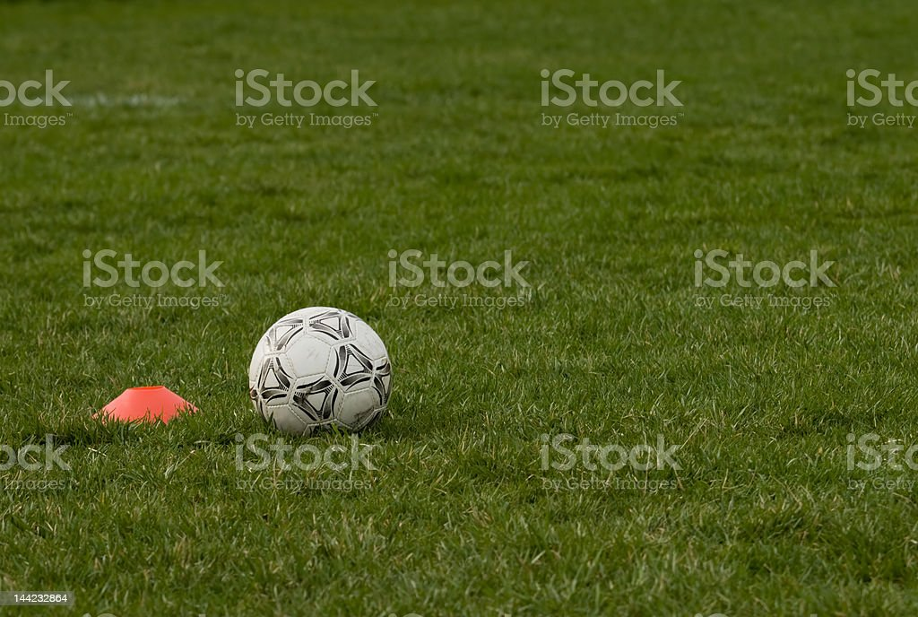 Soccer Ball and Holder royalty-free stock photo