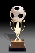 Soccer Ball and Trophy.