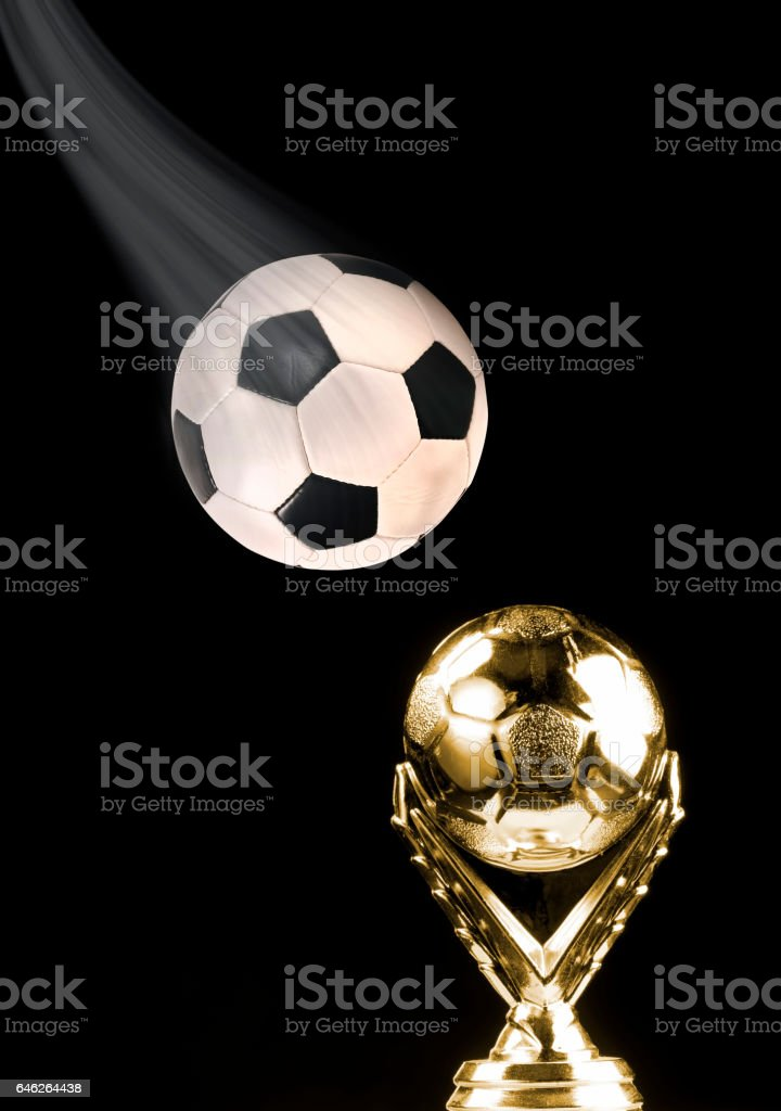 Soccer Ball and Trophy. stock photo