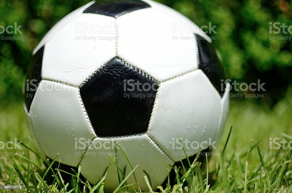 Soccer ball, black centered. stock photo