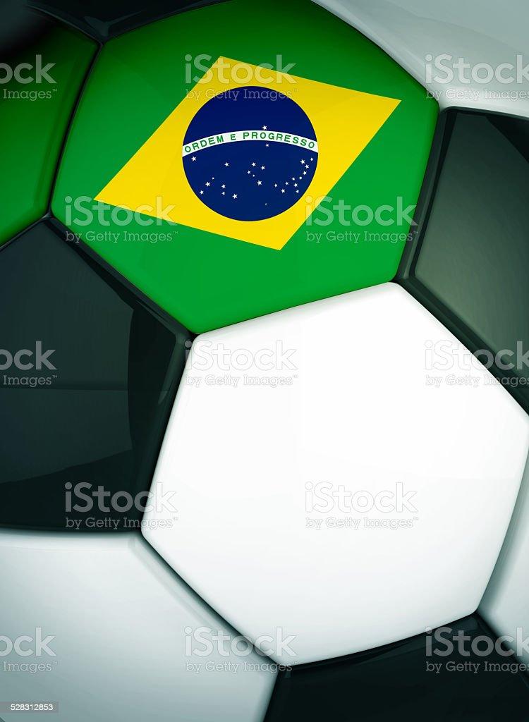 Soccer ball Brazil concept stock photo
