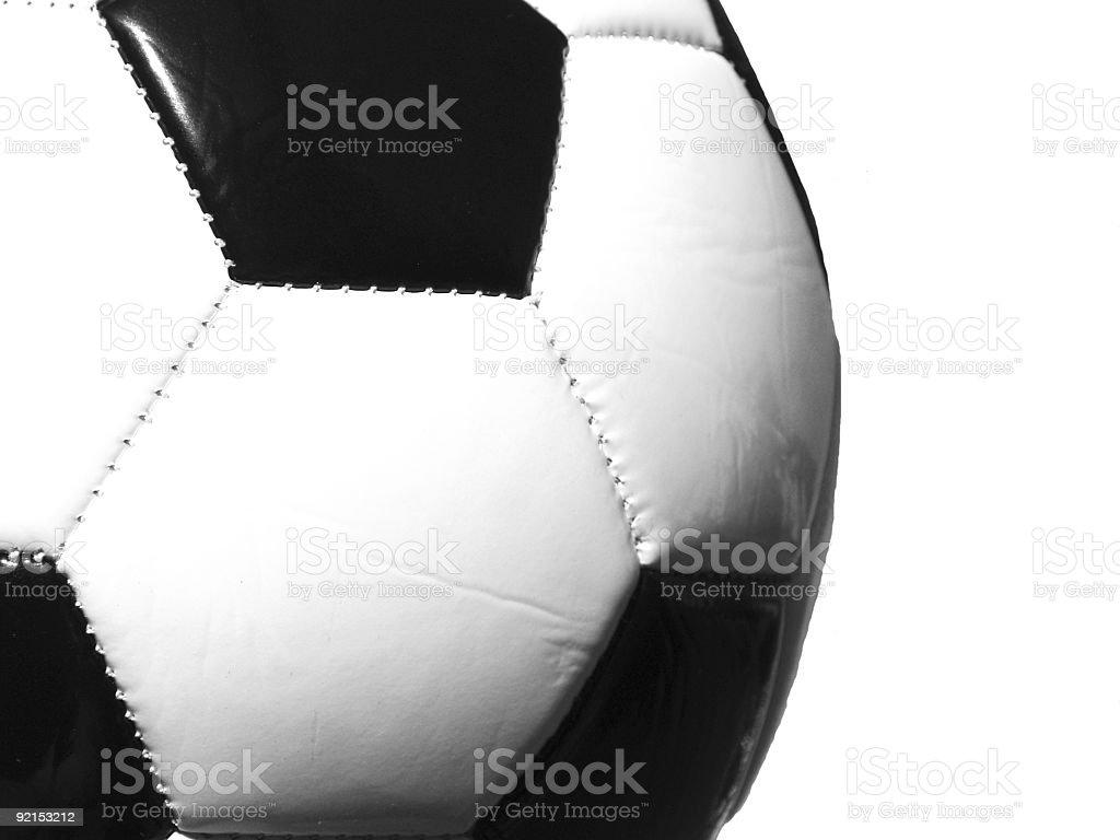 Soccer Ball B/W royalty-free stock photo