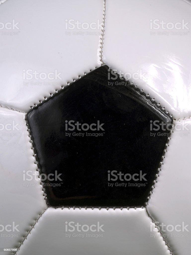 Soccer Ball Closeup royalty-free stock photo