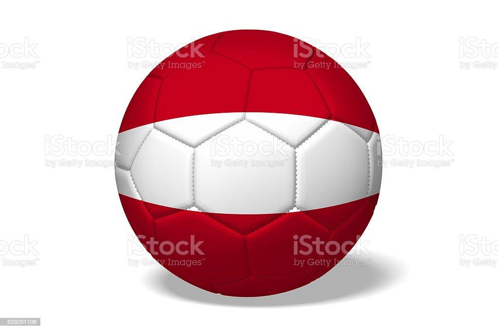 3D soccer ball concept - Austria stock photo