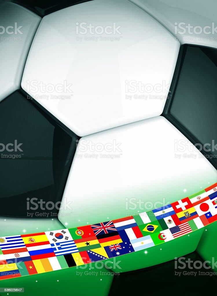 Soccer ball concept stock photo