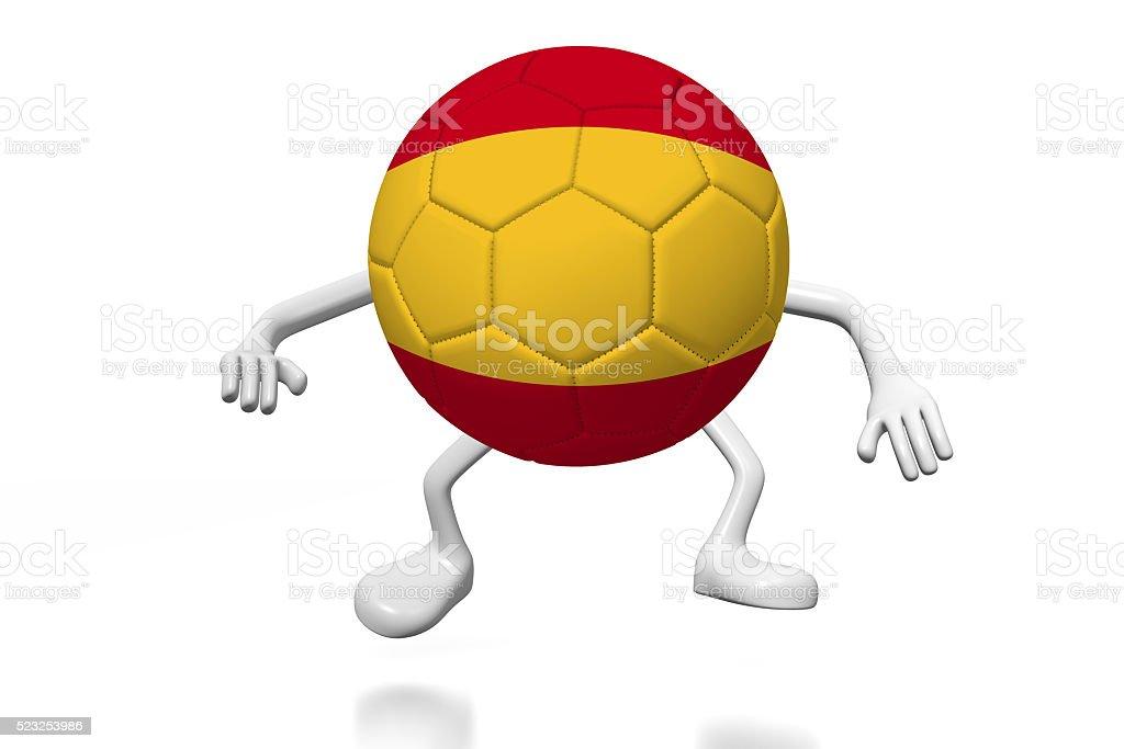 3D soccer ball concept - Spain stock photo