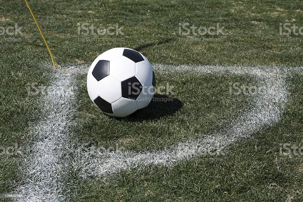 Soccer Ball Corner Kick royalty-free stock photo