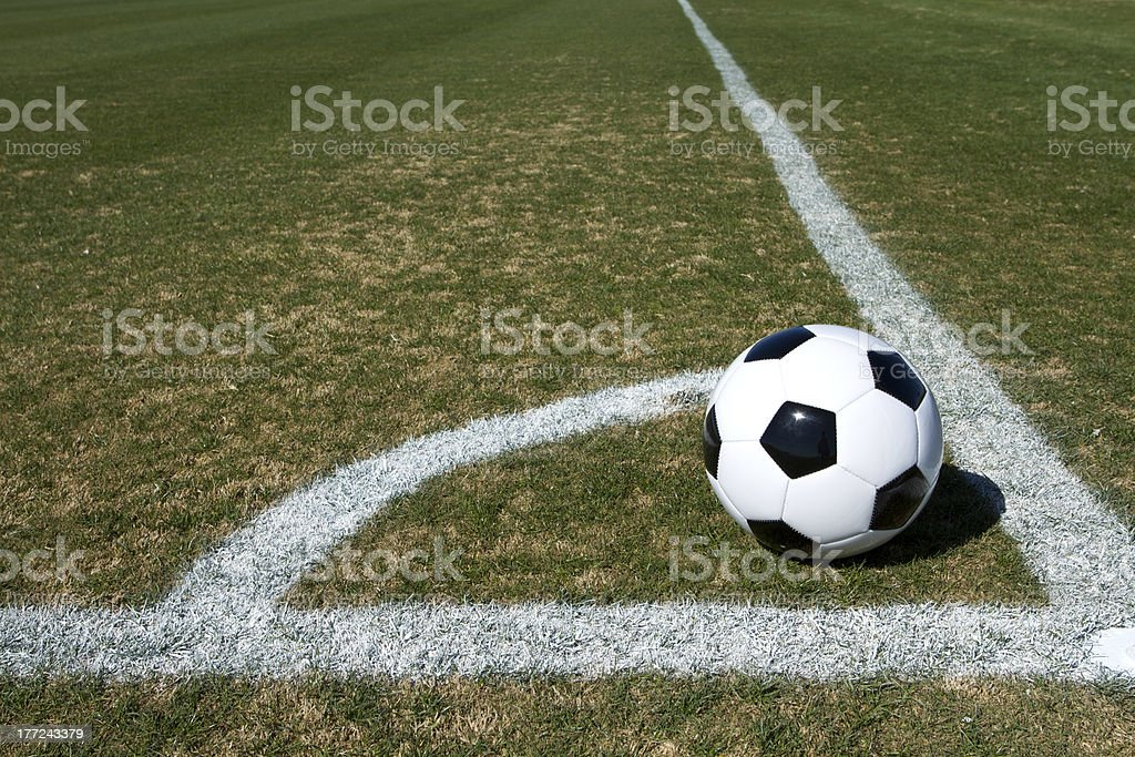 Soccer Ball Corner Kick stock photo