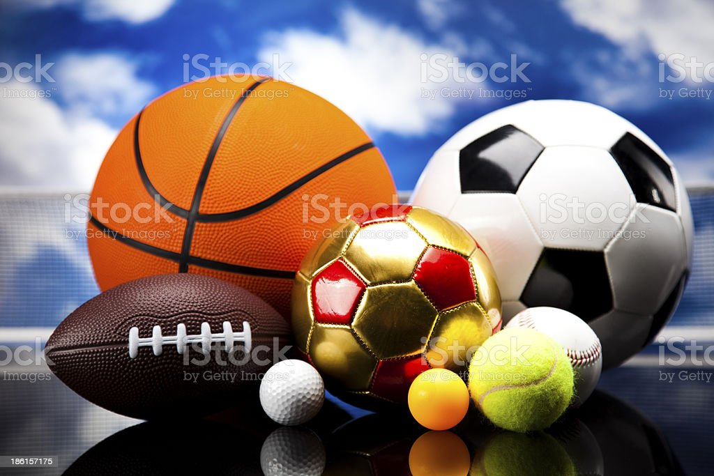 Soccer ball detail royalty-free stock photo