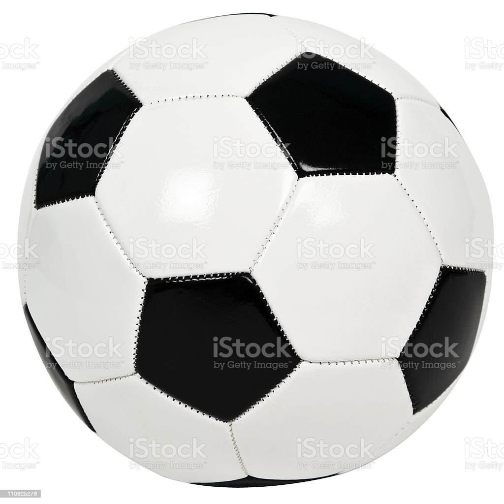 Soccer ball, Football  (Clipping path) royalty-free stock photo