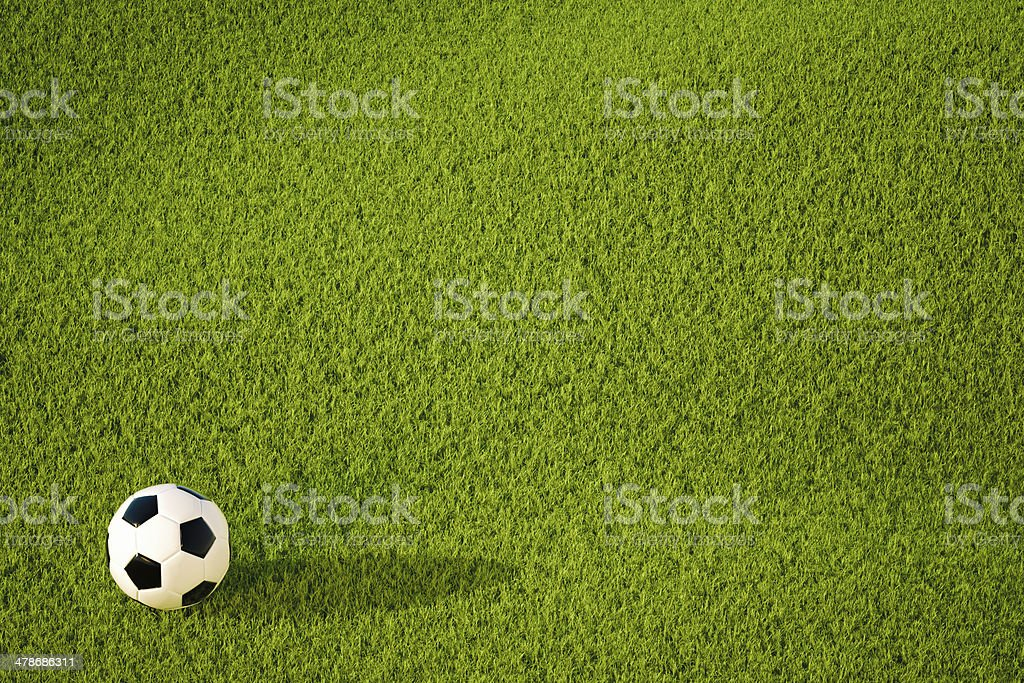Soccer ball for backgrounds stock photo