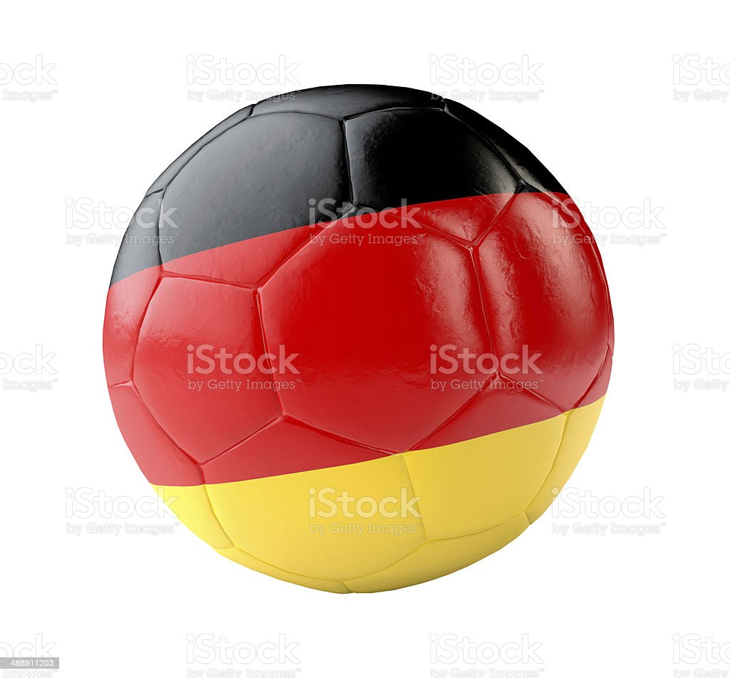 soccer ball germany 3d royalty-free stock photo