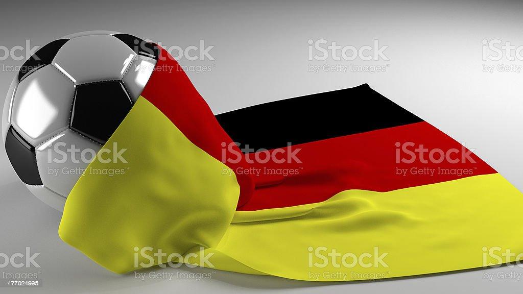 Soccer ball Germany stock photo