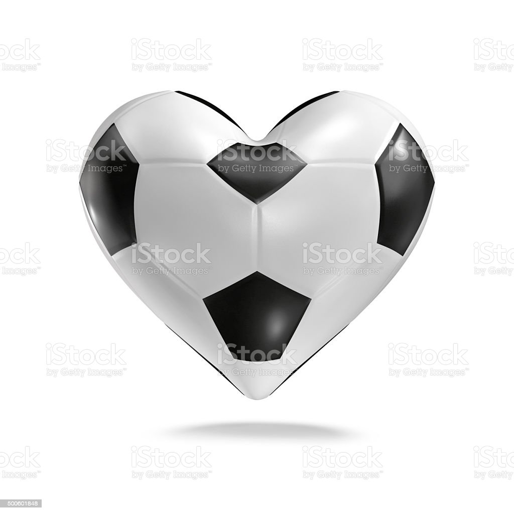 Soccer ball heart stock photo