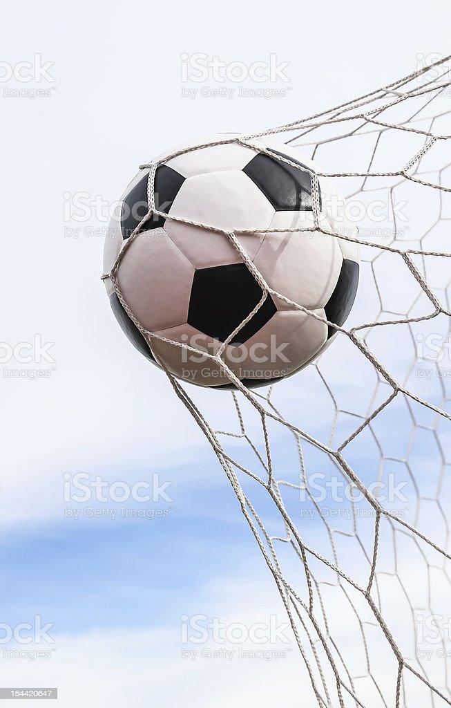 Pallone da calcio in Rete sportiva foto stock royalty-free