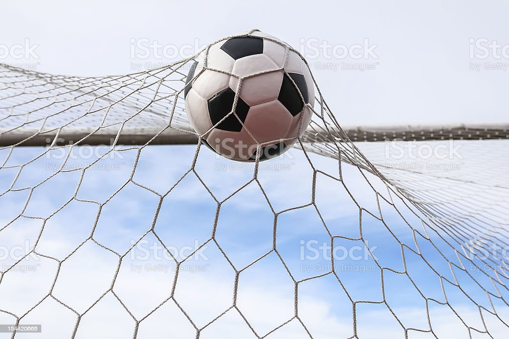 Pallone da calcio in Rete sportiva foto stock royalty-free