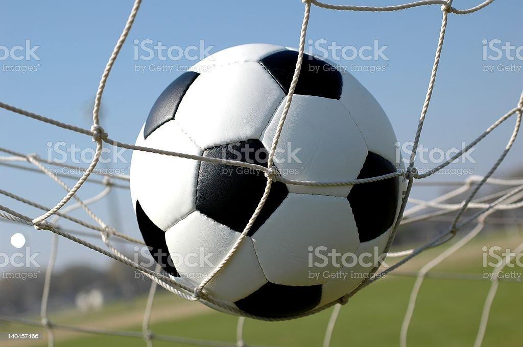 Soccer Ball in Net stock photo