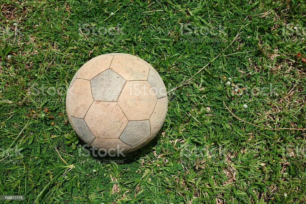 Soccer Ball in the Field royalty-free stock photo