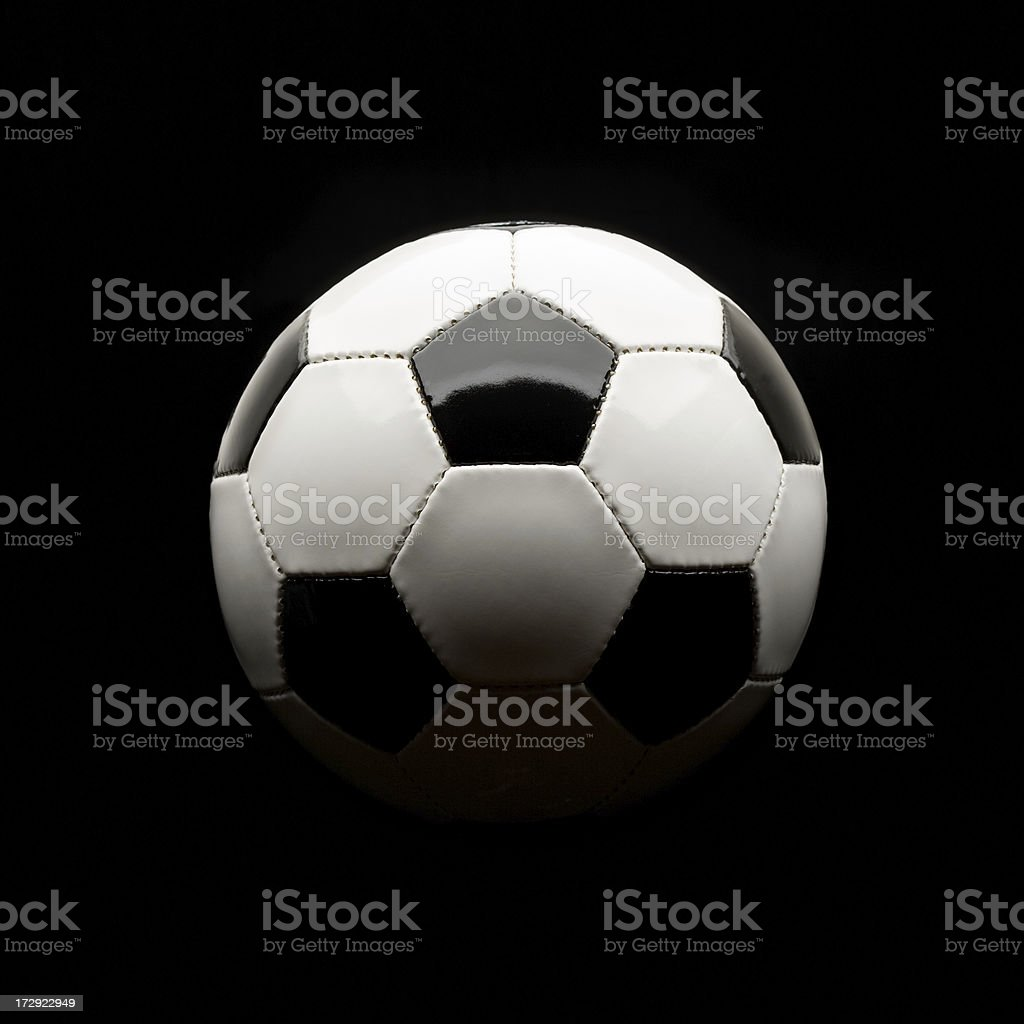 soccer ball isolated on black royalty-free stock photo