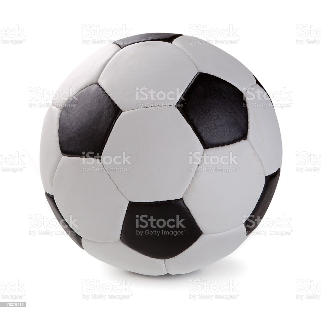Soccer ball isolated on white background stock photo