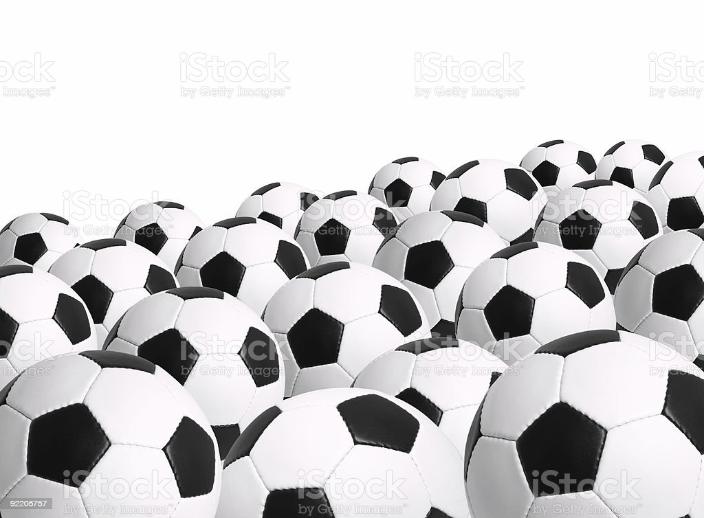 Soccer Ball Isolated on White Background royalty-free stock photo