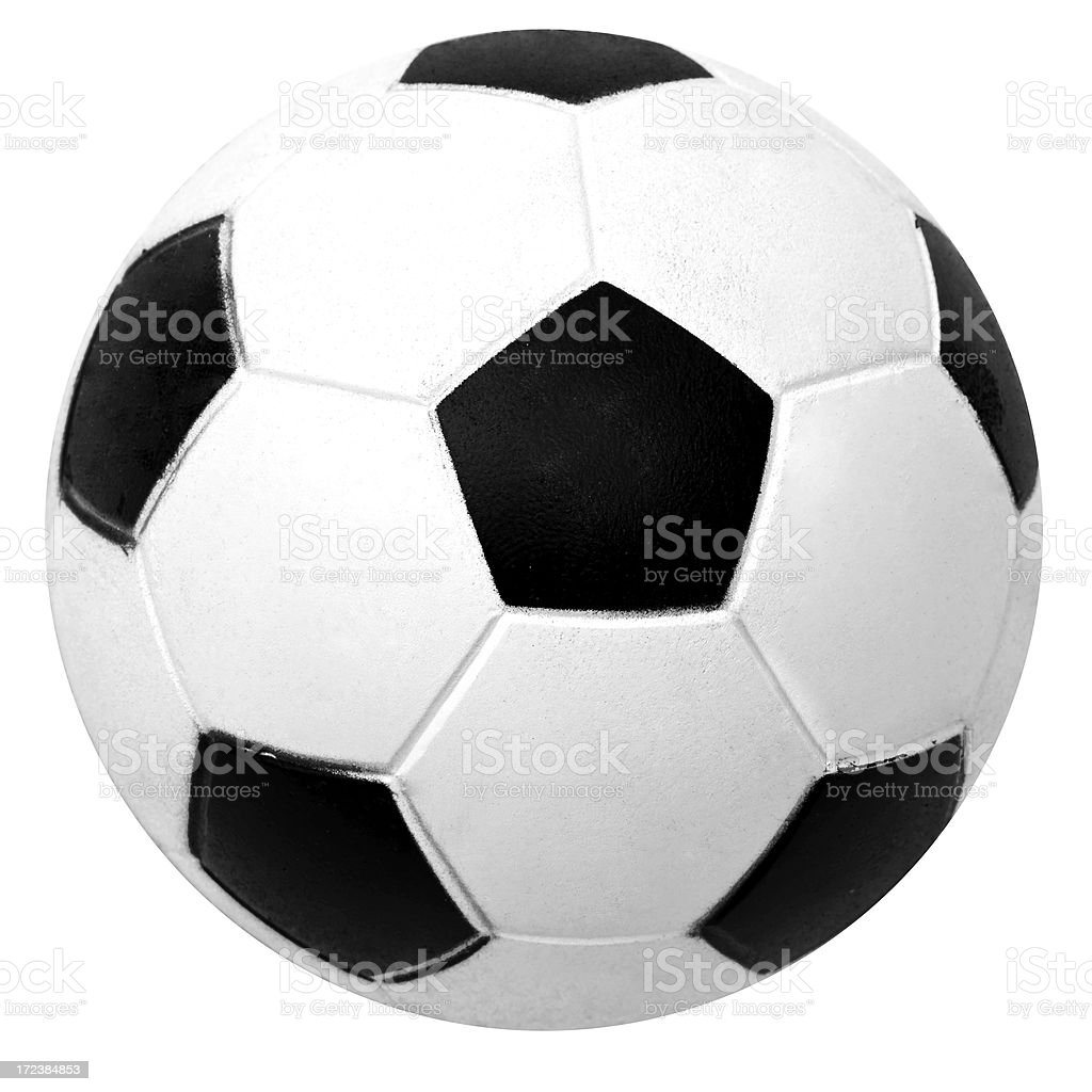 Soccer ball isolated on white royalty-free stock photo