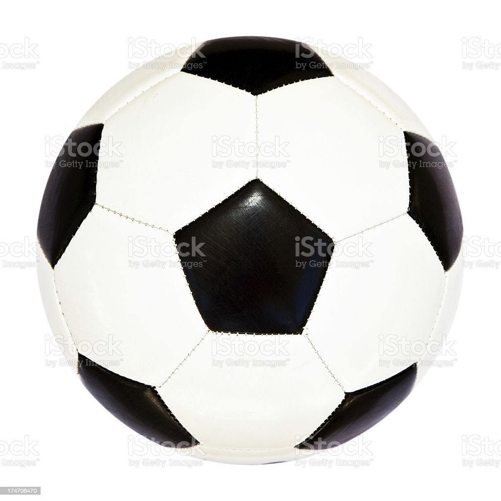 Soccer Ball Isolated royalty-free stock photo