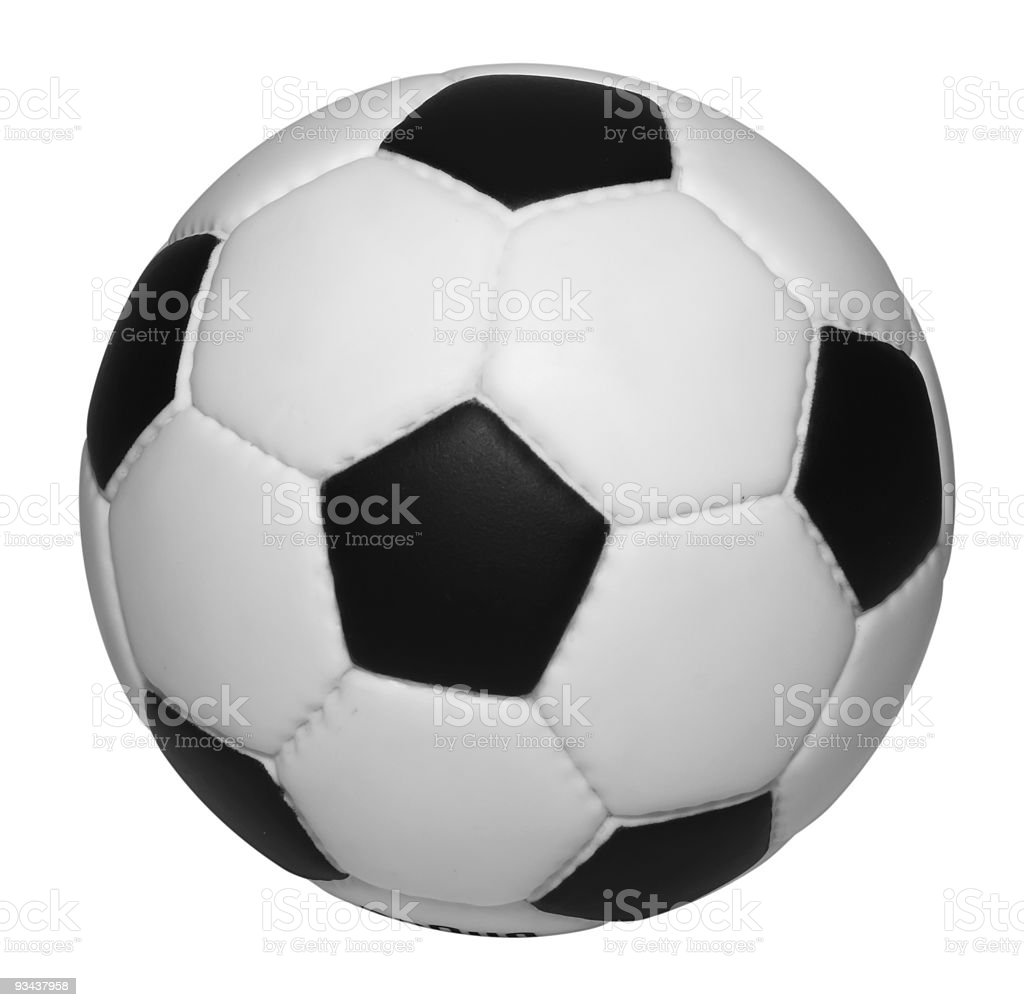 Soccer ball isolated w/clipping path royalty-free stock photo